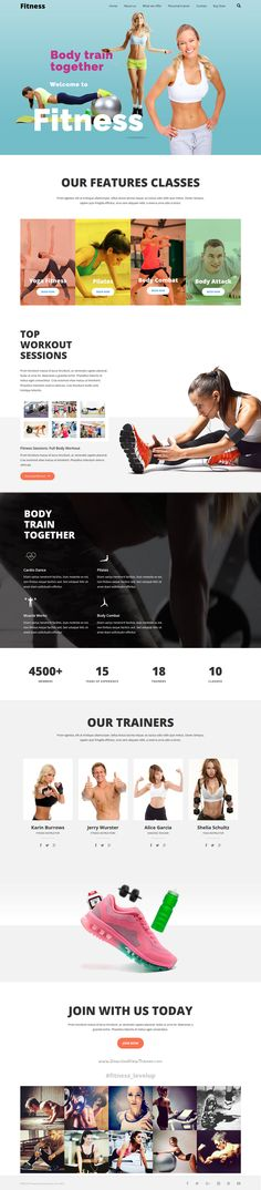 LEVELUP is a unique feature-packed #WordPress Theme for #fitness #workout…