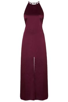 **Elegance - Maroon Strappy Maxi Dress by WYLDR