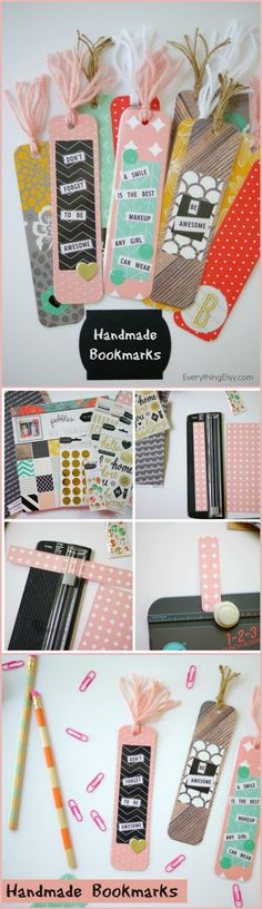 Easy Handmade Bookmarks - 40 Easy & Best DIY Back to School Projects - DIY & Crafts