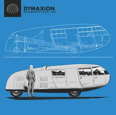 The Dymaxion car was a three-wheeled vehicle designed by Buckminster Fuller in 1933. A few different prototypes were made, but it was never mass-produced. Curiously, I find it somewhat reminiscent of Flash Gordon's rocket, which made its appearance indeed in that same decade. I guess that's how the future was supposed to look like in the 30s.