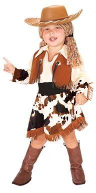 Yarn Babies Cowgirl Costume (Small Size 46, Ages 34) Rubie's Costume Co. $29.95