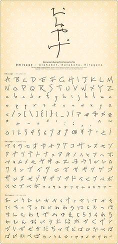 erewwa:  goodmorning:   takaakik:   isbsh:   moji:   『Omiyage-Alphabet, Katakana, Hiragana』は前橋市敷島町にあるF-ritz art centerのオーナー小見さんの書く文字がとても素敵だったので、これは是非ともフォントにしたい!と思い、小見さんに依頼しアレンジを加え完成した手書き風フォント。フォント名は小見さんの名前にひっかけて『おみやげ』としました。 (via wd-tech) Omiyage - Alphabet, Katakana, Hiragana