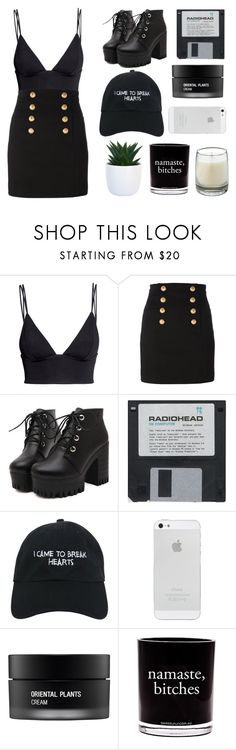 """""""boys - charli xcx"""" by chanelnseven ❤ liked on Polyvore featuring H&M, Balmain, Nasaseasons, Koh Gen Do, Damselfly Candles and Le Labo"""
