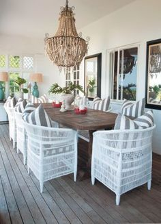 love the beaded chandelier...perfect for outside...
