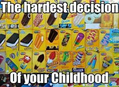 """The hardest decision of your childhood. When the """"Polar Cup"""" truck came instead of the ice cream guy, our decision was already made for us, lol"""