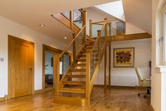 Stairs of a wide range of styles, all incorporating glass. Glass can be used to brighten up a room and create a modern style. View glass stairs here!