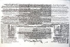PreScriptum - Couverture du livre du texte (exemplaire unique). 36x55 cm