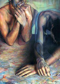 'Self-analysis' / acrylic on canvas by David Agenjo / www.davidagenjo.com