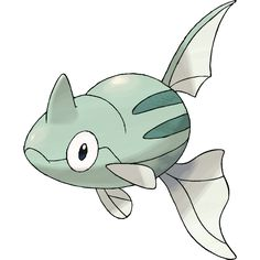 Remoraid - 223 - It has superb accuracy. The water it shoots out can strike moving prey from more than 300 feet away. Using its dorsal fin as a suction pad, it clings to a  Mantine's underside to scavenge for leftovers.  @PokeMasters