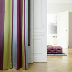 . Striped Curtains, Living Rooms, Interior, Design, Home Decor, Lounges, Decoration Home, Indoor, Room Decor