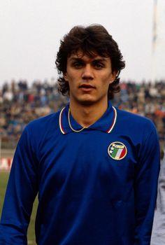A young Paolo Maldini representing Italy