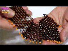 Takı Tasarımı-Kum Boncuklu Kolay Ve Basit Kolye Yapımı-DETAYLI VE SESLİ ANLATIM - YouTube