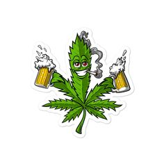 Weed Stickers, Stoner Gifts, Marijuana Art, Stoner Art, Weed Art, Abstract Styles, Gift For Lover, Cartoon, Drawings