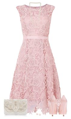 """Lace Dress"" by daiscat ❤ liked on Polyvore featuring Miu Miu, Forever New and Miss Selfridge"
