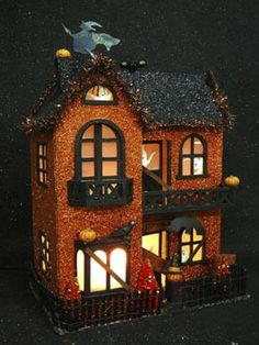 Glittered Halloween House