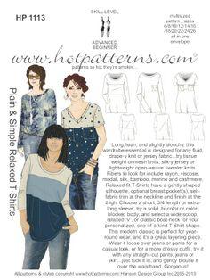 Hot Patterns t-shirt pattern