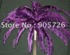 """100pcs/lot 12-14"""" Purple Ostrich Feather Wing Plume for Wedding Centerpiece Decoration FREE SHIPPING $85.00"""