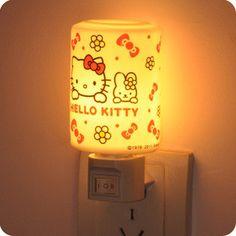 Hello kitty kt2052 sleeping kitty alarm clock radio with night light