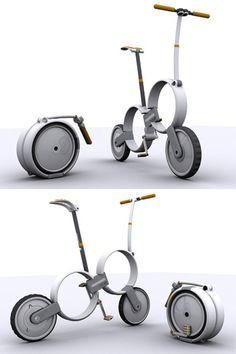 "★♥★ 'One' – Folding #Bicycle Concept by Thomas Owen ★♥★ 'Un"" - concept de vélo pliant par Thomas #Owen #ThomasOwen #Tech #Gadgets #Gadget #technology #technologie #Social #Media #SocialMedia #tool #design #designer #evolution #modern #Goodies #Stuff #truc #tricks #tips"