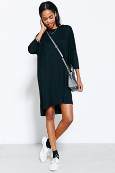 Silence + Noise Midi Open-Back Tee Dress