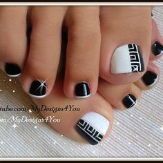 pedicure nail art photographs supplied by members of the NAILS Magazine Nail Art Gallery. French Pedicure, Pedicure Nail Art, Toe Nail Art, Toenail Art Designs, Pedicure Designs, Pretty Toe Nails, Cute Toe Nails, Nail Art Vernis, Feet Nail Design
