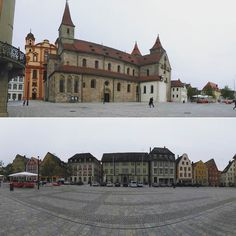 Oldtown Ellwangen. Above  catholic  Basilica St. Veit (romanic style from 13. century). Below the grand  Marktplatz (marketplace). #instapicture #instapic #instaphoto #ellwangen #church #kirche #marktplatz #marketplace #cit #citylife #oldcity #architecture #architektur #panorama ##romanic #romanik #13century #weekend #wochenende #saturday #samstag #ester #ostern
