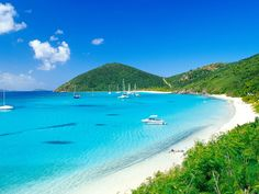 White Bay, BVI. Where the Soggy Dollar Bar is located. home of the PainKiller