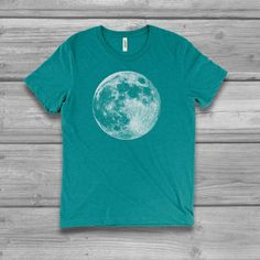 Just A Phase  Funny Moon Lunar Space Heather Black Men/'s Tri-Blend T-Shirt