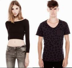 Camisetas En Pareja Pull & Bear 2014  CentralMODA.COM
