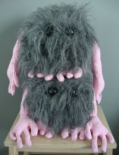 Scary gifts at DaWanda - Toy Animals & Monster Toys – Frank couch monster, monster plush – a unique product by Smittens via en.dawanda.com