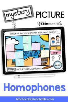 This paperless digital mystery picture reveal activity focuses on identifying commonly used HOMOPHONES. Students are asked to identify the correct spelling/word related to each image from the options given. Each correct answer will reveal a piece of the mystery picture. This is a visually engaging way to practice and remember homophones and their spellings/meanings. English Vocabulary Games, Grammar And Vocabulary, Teacher Must Haves, Printable Board Games, Classroom Language, Spelling Words, Educational Games, Classroom Activities, Task Cards