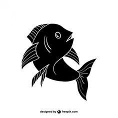 Silhueta peixe preto