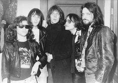 """Tommy Ramone, Johhny Ramone, Fred """"Sonic"""" Smith, Ron Asheton and Scott Asheton"""