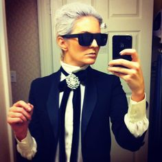 Karl Lagerfeld costume - Google Search