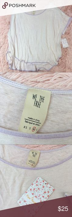 We the free Pluto one shoulder tee in lavender New with tags size M Free People Tops