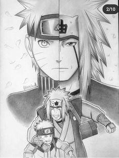Otaku Anime, Anime Naruto, Fan Art Naruto, Jiraiya Y Naruto, Boruto, Sasuke Drawing, Naruto Sketch Drawing, Naruto Drawings, Anime Sketch