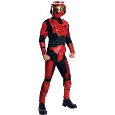 This deluxe Halo red spartan costume is a licensed Halo Halloween costume for adults. Get our delxue Halo blue spartan costume too! Halo Halloween, Halloween Fancy Dress, Adult Halloween, Halloween City, Halloween 2013, Halloween Witches, Red Costume, Halloween Costume Shop, Dog Costumes