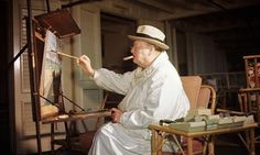 """In addition to being a first-class statesman, Sir Winston Churchill was a talented artist as well. The man loved to paint. He loved it so much that he built himself an art studio in his estate's garden. When he felt the """"Black Dog"""" of depression tailing him, he would retreat to his studio and keep the darkness away by putting brush to canvas."""