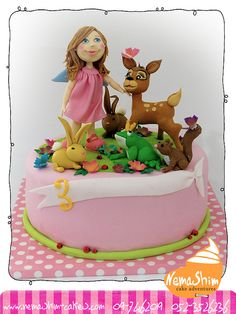 All sizes | Untitled | Flickr - Photo Sharing! Cake Cookies, Cupcake Cakes, Cupcakes, Beautiful Cakes, Amazing Cakes, Little Girl Cakes, Deer Cakes, Royal Icing Sugar, Cake Decorating With Fondant