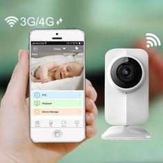 New IP Wireless Wifi Baby Monitor Video 720P Camera baba eletronica Night Vision