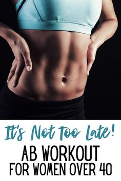 As women over 40, we can't neglect our abs! We can still have great abs with this ab workout that will only take a few minutes a day! Weight Loss Program, Easy Weight Loss, Healthy Weight Loss, Nutrition Education, Abs Workout Video, Belly Pooch, Yoga, Ways To Lose Weight, Get In Shape