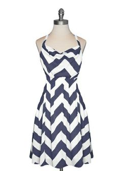 Textiles Girl Claire is in love with the zig-zag pattern. Looks very flattering for women with curves