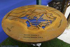 Signalétique Pic Bois - Les maquettes 3D : Plaque thématique en relief