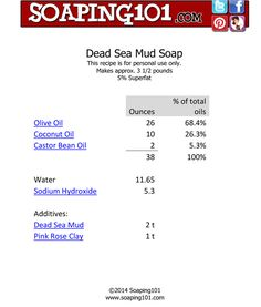 Dead Sea Mud Soap from soaping101