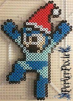 Santa Hat Mega Man perler beads by PerlerPixie on DeviantArt