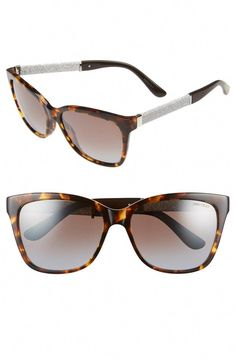 0720cdae169 These Jimmy Choo sunglasses are so fabulous! The glittering temples and  polished goldtone hardware will