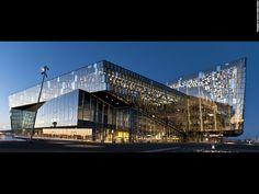 Harpa – Reykjavik Concert Hall and Conference Centre, Iceland by Henning Larsen Architects University Architecture, Education Architecture, Modern Architecture, Commercial Architecture, Building Architecture, Great Buildings And Structures, Unique Buildings, Rem Koolhaas, Santiago Calatrava