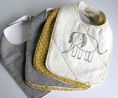 Organic Baby Bib by downhomeamy on Etsy