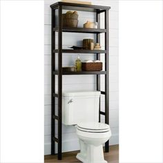 Lowest price online on all Jeco Space Saver Over the Toilet Rack in Brown - F1303-A