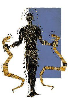 Oxumaré orixá da chuva e do arco-íris, o dono das cobras e das transformações.